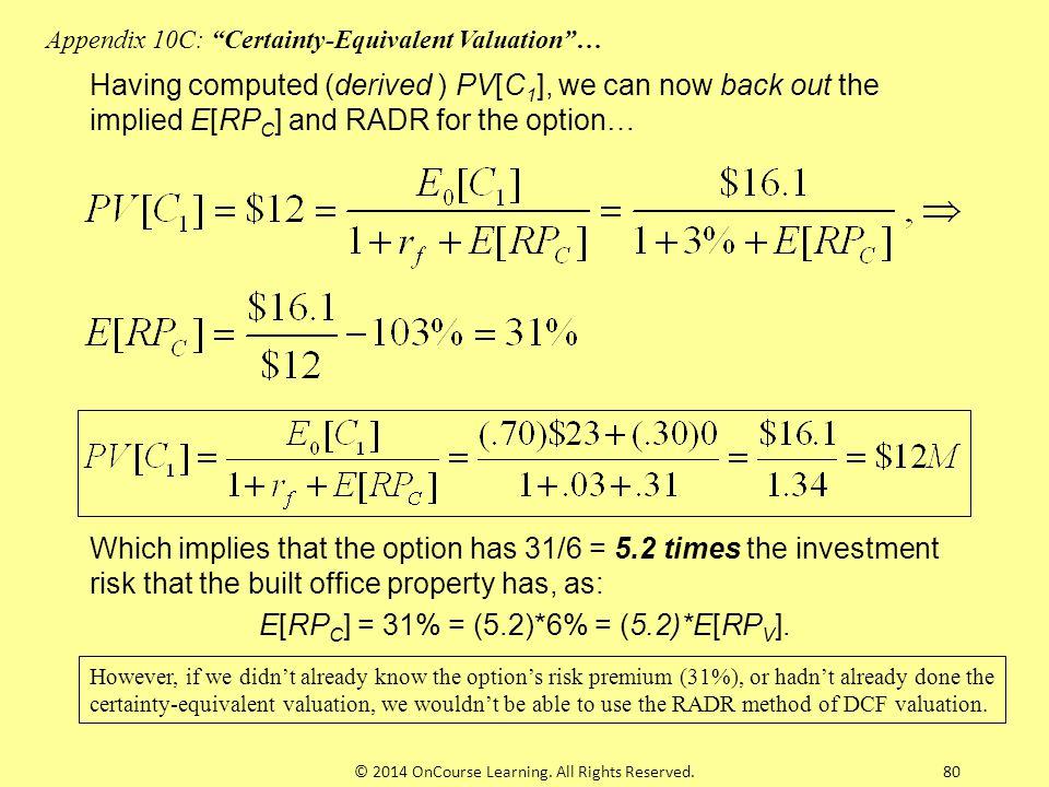 E[RPC] = 31% = (5.2)*6% = (5.2)*E[RPV].